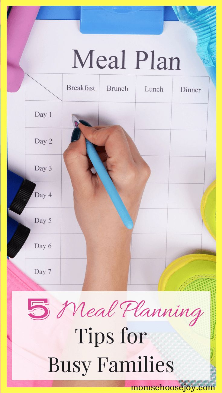 Meal planning sounds great in theory, but finding time to sit down and plan out a week's worth of meals can feel overwhelming. These 4 tips will show you how to easily and quickly plan meals for your busy family every week.