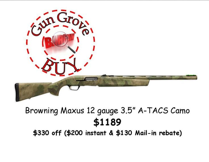 "Gun Grove Bargain Buy - Browning Maxus 12 gauge 3.5"" A-TACS camo $1189 (through Saturday Feb 24th or while supply lasts)! - http://www.gungrove.com/gun-grove-bargain-buy-browning-maxus-12-gauge-3-5-a-tacs-camo-1189-through-saturday-feb-24th-or-while-supply-lasts/"