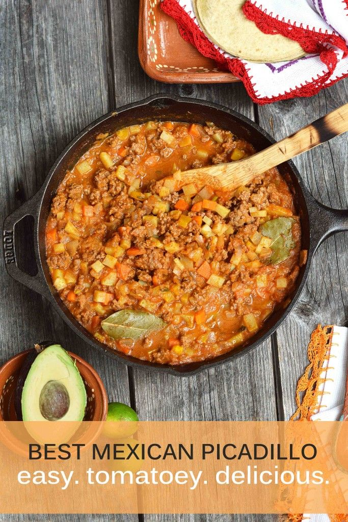 make a batch of this easy, healthy picadillo and you'll have taco fillings for the week! (paleo version included)