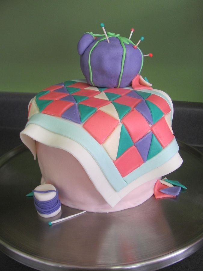 Quilting Cake Designs : Sewing Quilt Cake Birthday Cake Photos Cakes: Baskets, boxes, b?