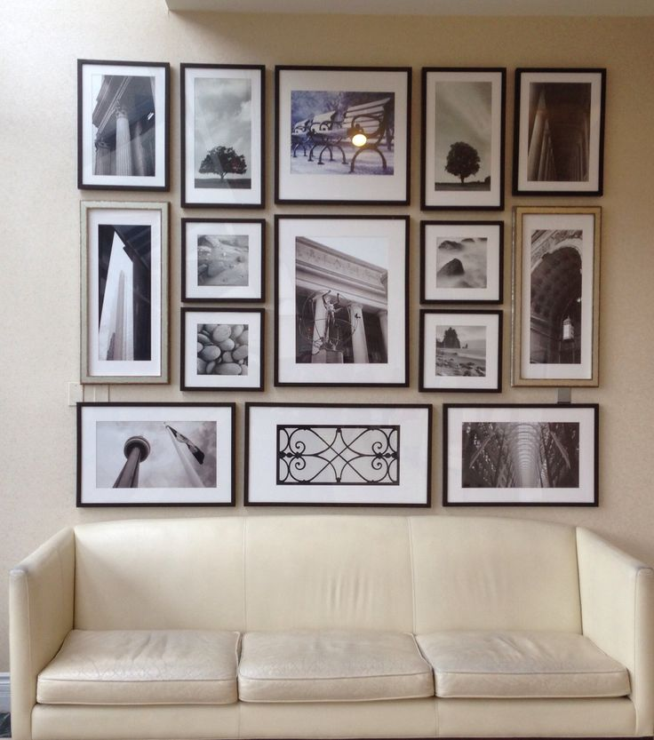 Perfect photo collage wall!
