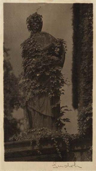 JOSEF SUDEK (1896-1976)  Sculpture at Opyse (1942 - 1946)