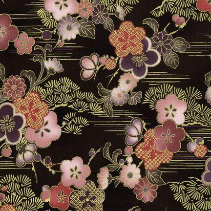 Robert Kaufman Fabrics: HRK-551101L-5 from Hyakkaryouran Sateen
