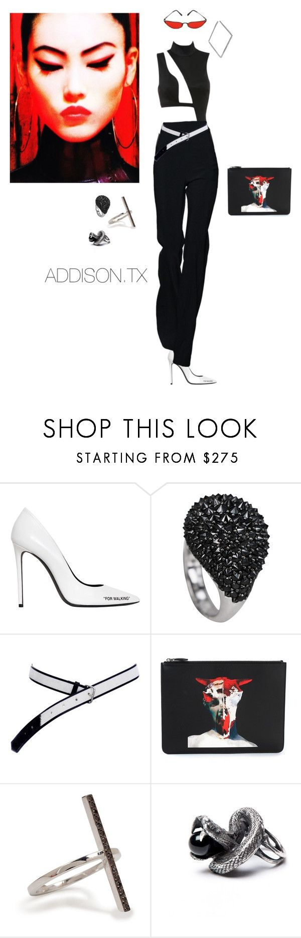 """""""Lady."""" by fashionoise ❤ liked on Polyvore featuring Off-White, Givenchy and Ileana Makri"""