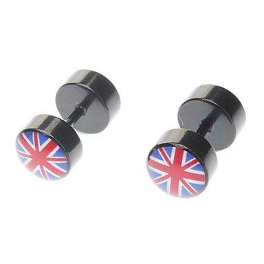 Stainless Steel British Flag Studs – HKD $ 25.32