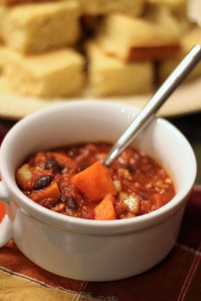 Slow-Cooker Sweet Potato and Turkey Chili