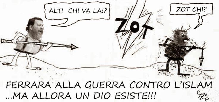 Giuliano Ferrara ha dichiarato guerra all'Islam e ci vuole arruolare tutti perché noi, idioti, non capiamo un cazzo! http://notizieoggi.blogspot.it/2015/01/giuliano-ferrara-ha-dichiarato-guerra.html