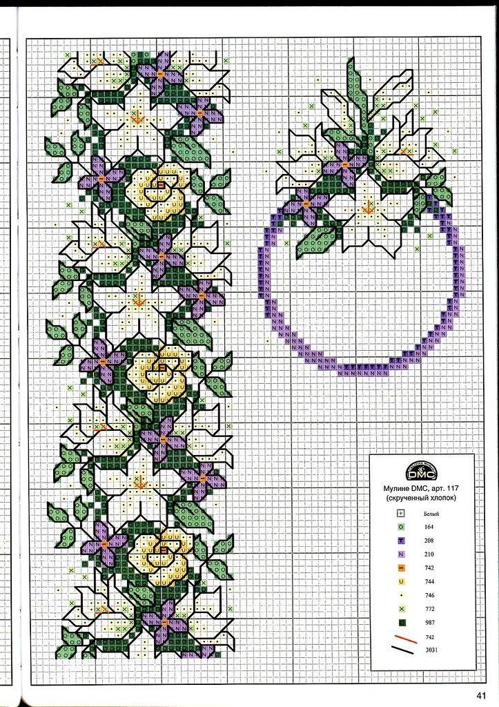 Схемы вышивки крестом для открыток цветы, днем рождения