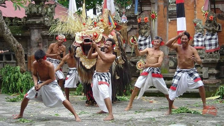 Barong and Kris dance is a battle between good and bad spirit.