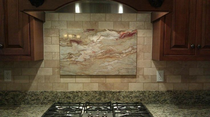 Subway patterned Tuscany Ivory Honed Travertine with a