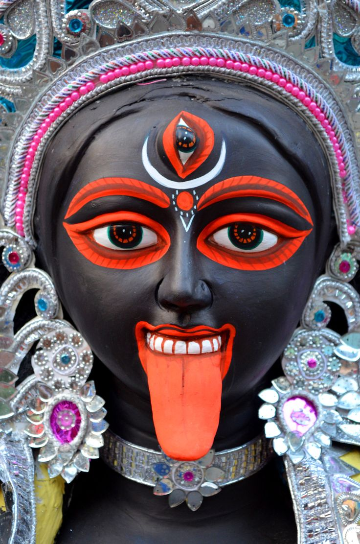 Kali the goddess of time,change and destruction.She Who Conquers Over All, All-Auspicious, the remover of Darkness, the Excellent One Beyond Time, the bearer of the Skulls of Impure thought the reliever of difficulties, loving, forgiveness, supporter of the Universe.