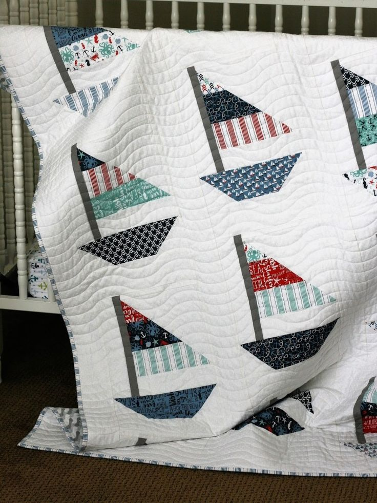 56 Best Quilts Sailboats And Nautical Images On Pinterest