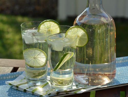 Bål med fläder och vitt vin. Gott bål till fördrink, sommardrink, välkomstdrink och fest.