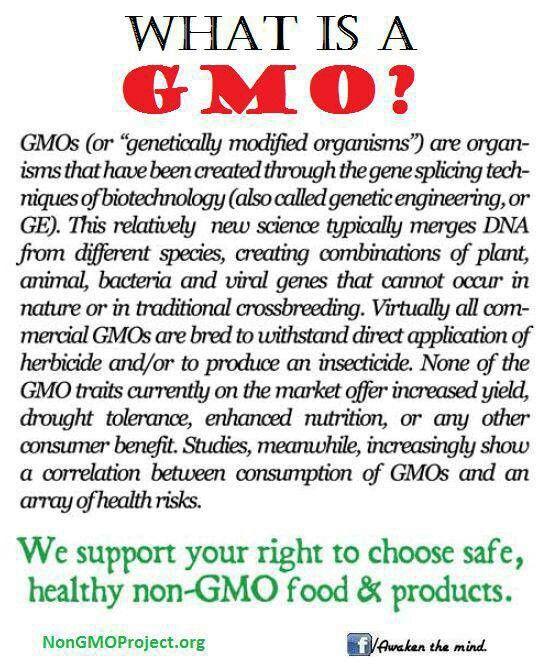 """GMO - """"Natural"""" doesn't mean non-GMO - BUY ORGANIC!! GMO USA=NO LABELS!!"""