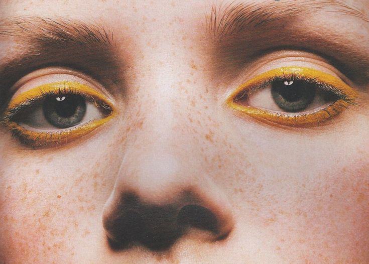 #макияж #подводка #карандаш #makeup #тренд #желтый #beauty #стиль #мода