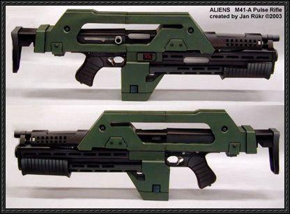 Aliens vs. Predator - M41A Pulse Rifle Free Paper Model Download - http://www.papercraftsquare.com/aliens-vs-predator-m41a-pulse-rifle-free-paper-model-download.html