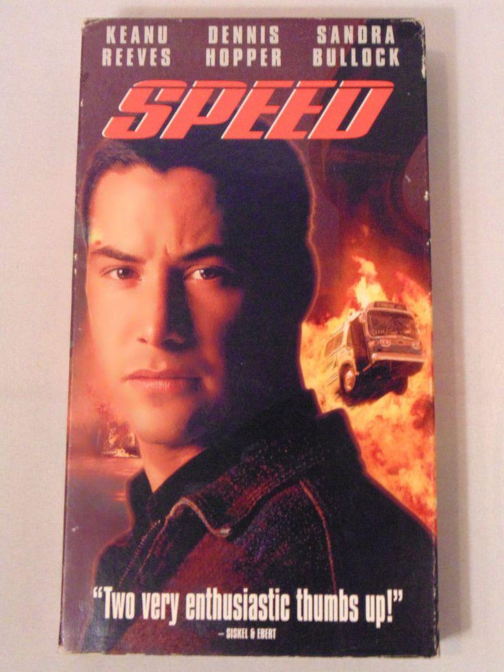 Speed VHS Tape 1994 Keanu Reeves Sandra Bullock Fox Video R