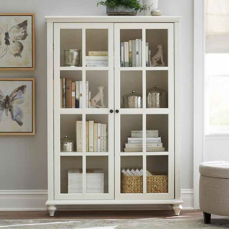 Oxford 48 W 6 Shelf Bookcase With Glass Doors Bookcase Bookshelves Homedecorators Com Bookcase With Glass Doors White Bookcase Bookcase