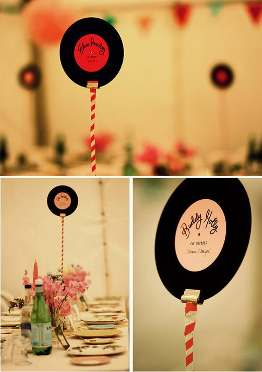 if musically themed, record table numbers!