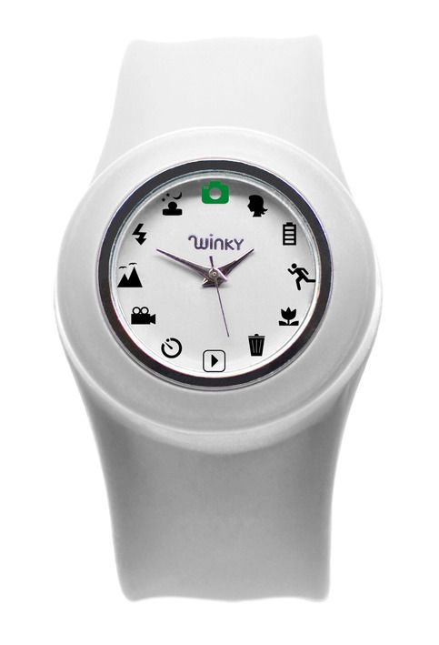 LOVE these camera icons in place of numerals on this watch.