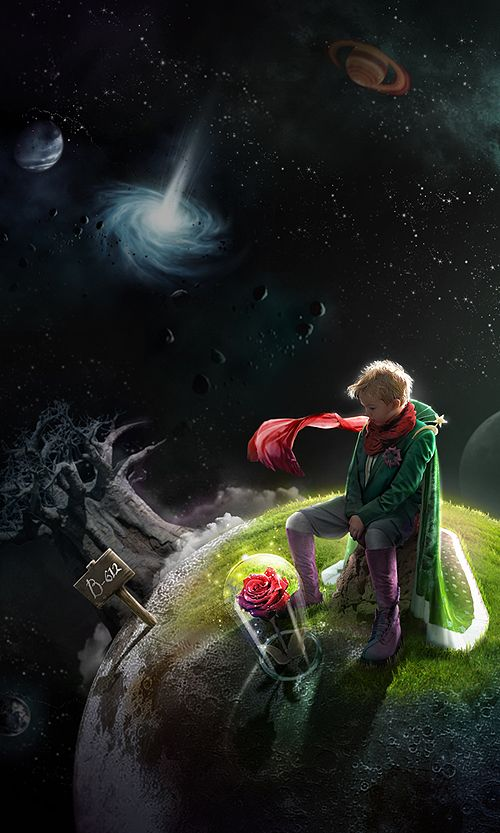 """Le petit prince"" 어린왕자 illustration by ABUBU/ ORIGINAL CONTENT2012."
