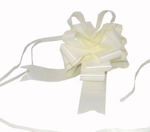 """From 4.46 20 X 50mm (2"""") Rapid Satin Pull Bows - Cream / Ivory For Gift Decorations Flower Bouquets & Arrangements Baskets Wedding Cars Floral Tributes Arts & Crafts Christmas Hampers"""