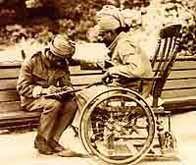 Photo of a wounded Indian soldier dictating a letter. The Indian Army fought in every major theatre of operations during World War One. Letters home from Indian soldiers on the Western Front offer extraordinary insights into their feelings about the conflict and their impressions of European culture.