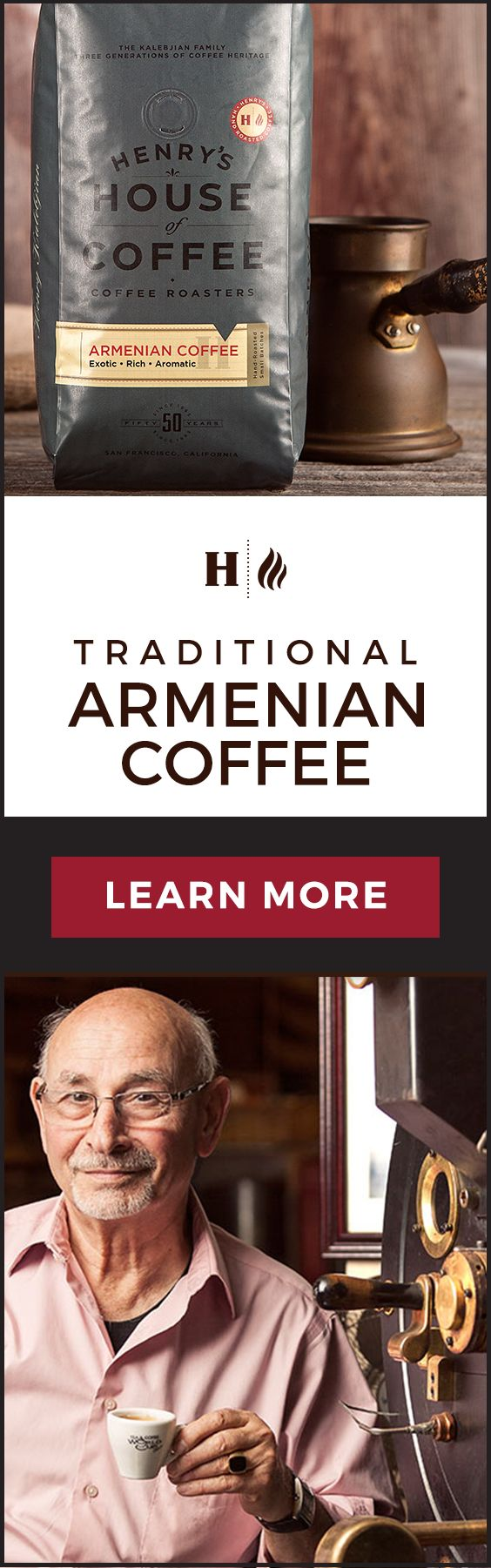 Making Armenian coffee is pretty much a routine for us.   Check out more here: http://henryshouseofcoffee.com/soorj/  We start the day with it, we drink it after lunch or early dinner. And we certainly drink it when someone comes over for a quick chat or for anything else. - Heghineh