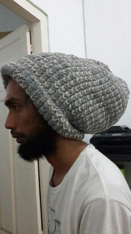 Huge beanie #knittingloom