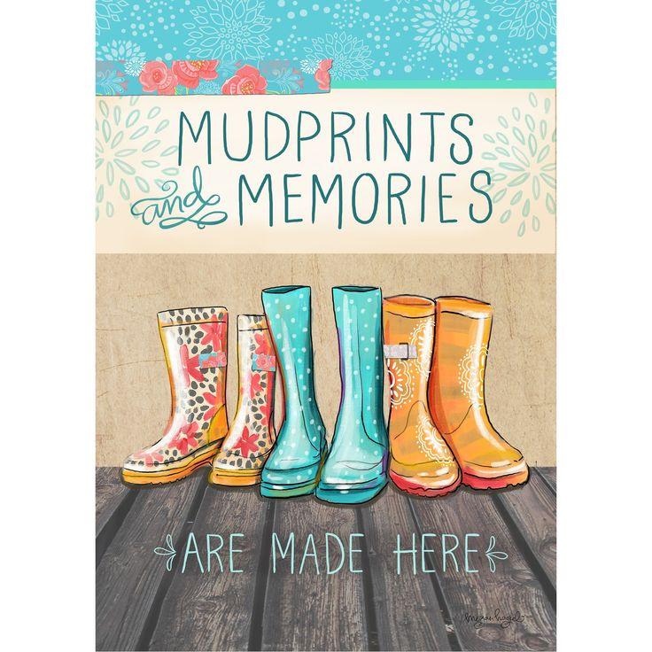 Mud Prints and Memories Door Mat
