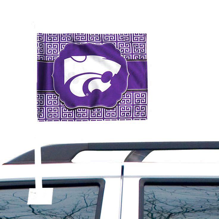 Kansas State Wildcats Greek Key Fashion Car Flag - $10.39
