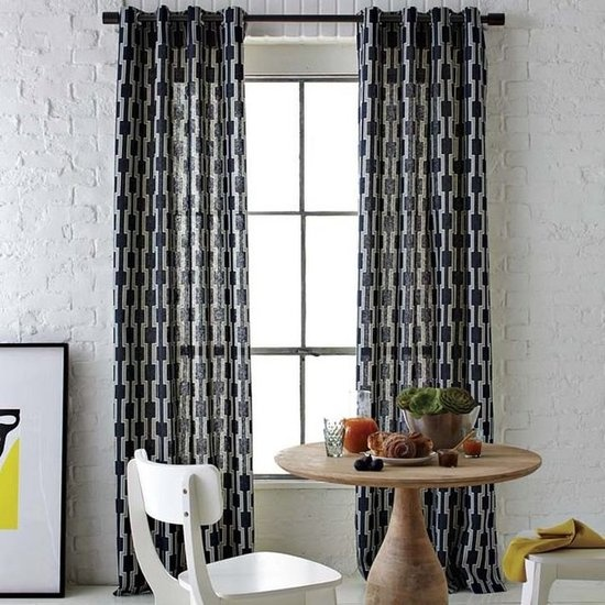 These curtains would be all over the windows in the reception room (: