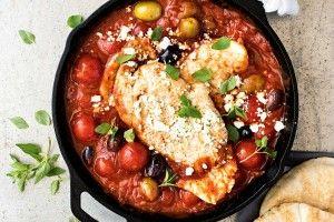 15-minute Greek chicken