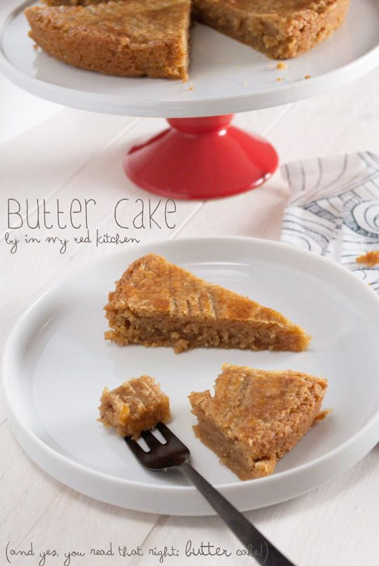 Dutch butter cake - yes, you read that right: BUTTER cake! | in my Red Kitchen #butter #cake #buttercake #recipe