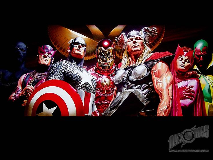 Marvel's The Avengers.  Painted by Alex Ross - one my favorite comic book artist.
