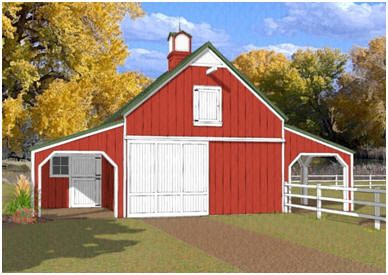 35 best images about horse barn plans and kits on for Open barn plans