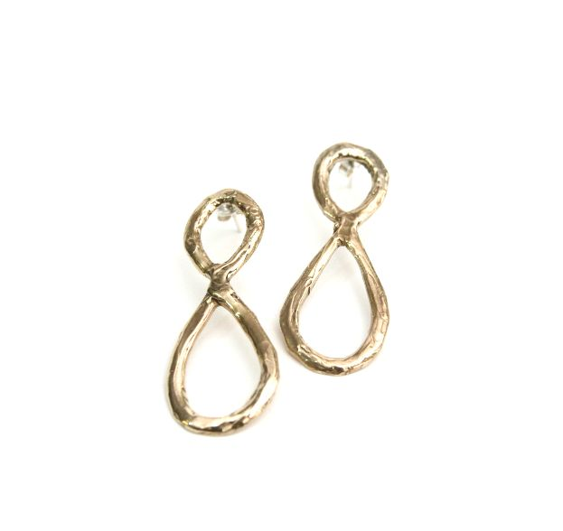 Infinite earrings by Veronica Caffarelli #bronze #shapes