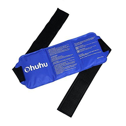 "Ohuhu Pain Relief Ice Pack Wrap for Hot & Cold Therapy, Reusable Ice Gel Pack for Injuries, Cold Pack for Shoulder, Knee, Elbow, Back, Waist, Arm, Neck, Ankle, Calves and Hip, 14.5""x 5.5""  ESSENTIAL: First aid essential for home or clinical use as it is ideal for sports injuries, muscle pains, strain & stiffness, body aches ,swellings, minor burn, sprain, strain, inflammation, muscle pains and more  SAFE & REUSABLE FOR HOT & COLD THERAPY: Reusable, the gel packs are reusable and can be..."