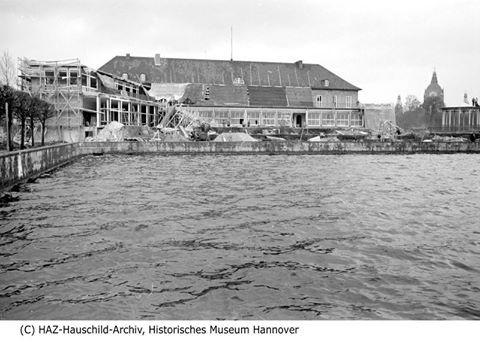 HANNOVER 1954 BAU MASCHSEEGASTSTÄTTE