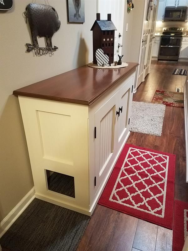 Cat Litter Box Enclosure That Is An Attractive Piece Of Furniture For Any  Home. Provides Space For The Litter Box And For Storage Of Litter And Other  ...