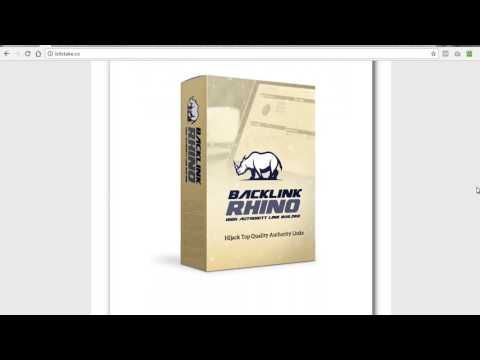 [Smart Tools] Backlink Rhino Builder Software Review – Amazing New Tool for Fast, Long-Lasting Google Rankings to Helps You to Make Money Online | JV Developer Software
