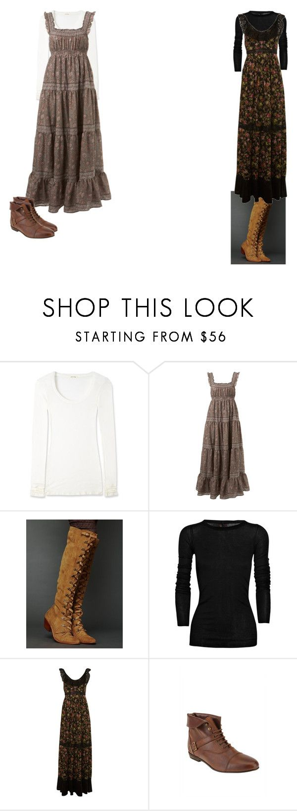 """Modest Outfits"" by christianmodesty ❤ liked on Polyvore featuring American Vintage, Miss Selfridge, Free People, Rick Owens and Deena & Ozzy"