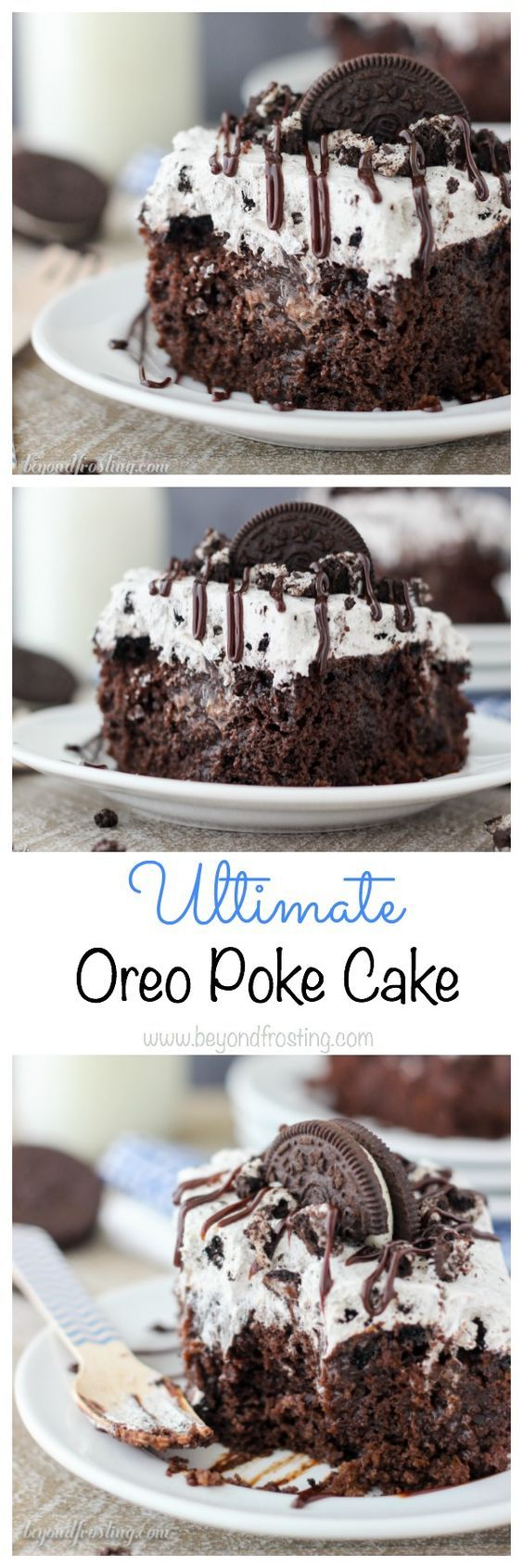 Ultimate Oreo Poke Cake