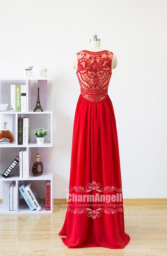 Luxurious prom dresslong prom dresshandmade by CharmAngell on Etsy