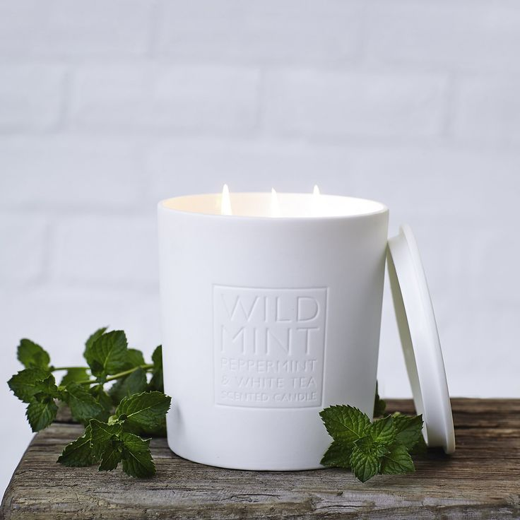 Wild mint candle the white company shopping from the us for Aroma candle and scent company