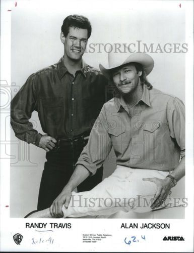 1991 Press Photo Randy Travis and Alan Jackson, American Music Country Singers.