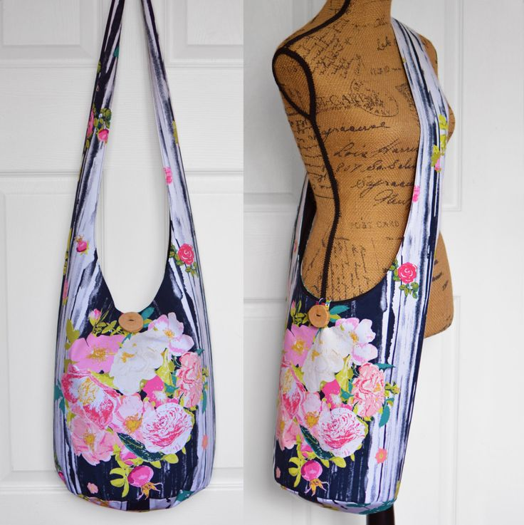 Hobo Bag Boho Bag Hippie Purse Crossbody Bag Sling Bag Hippie Bag Bohemian Purse Floral Handmade Purse Hobo Purse Slouch Bag Hippie Bag by 2LeftHandz on Etsy https://www.etsy.com/listing/385171388/hobo-bag-boho-bag-hippie-purse-crossbody