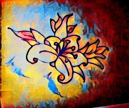 Dibujo de flor diseño original