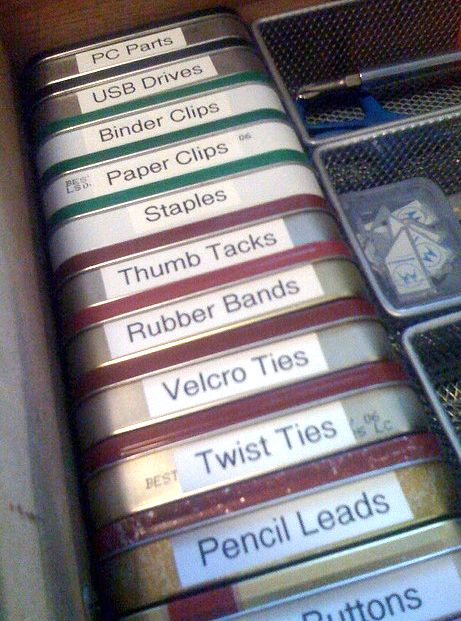 Organize a junk drawer with this tutorial. AND 45 of the BEST Home Organizational & Household Tips, Tricks & Tutorials with their links!! Party and event prep, too! from MrsPollyRogers.com