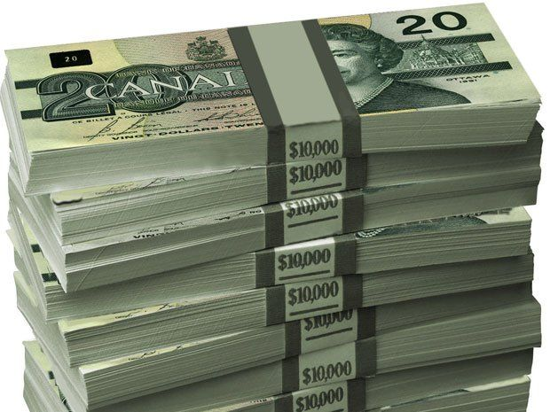 stacks of canadian money - Google Search
